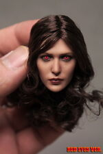 1:6 Scale Accessory Elizabeth Olsen Scarlet Witch Female HeadSculpt Red Eyes Ver