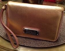 Marc by Marc Jacobs New Q Wingman Travel Tech Phone Wallet Wristlet ROSE GOLD