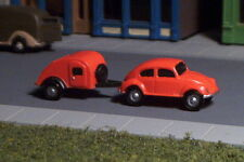 VW BUG and Tear drop Camper  N Scale Vehicles ORANGE