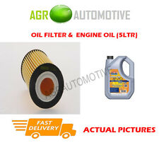 PETROL OIL FILTER + LL 5W30 ENGINE OIL FOR OPEL ZAFIRA 1.6 116 BHP 2008-