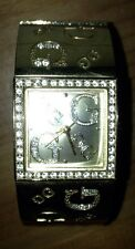 "⭐️AUTHENTIC⭐️Gold/Diamond ""BLING BLING"" Ladies GUESS Bracelet Cuff Watch"