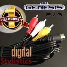 A/V Cable Cord (NEW) Sega Genesis 2 & 3  (AV Audio Video) 6FT. (9-pin) MK-1631