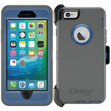 NEW! OtterBox Defender Series Case for iPhone 6 & iPhone 6s w/ Holster GREY BLUE