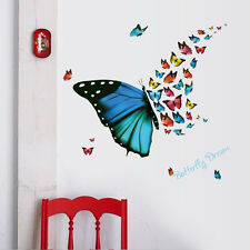 Removable Butterfly Wall Sticker Home Mural Bedroom Kids Decoration Vinyl Decor