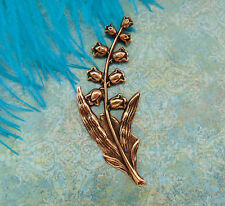 ANTIQUE COPPER Lily of the Valley Spray FLOWER Stamping Finding (FB-6053)