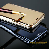 Luxury Electroplate Metal Mirror Flip Folio Phone Case Slim Hard PC Bumper Cover