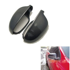 Left & Right Carbon Fiber Door Side Mirror Covers Shell For VW Golf MK5 2006-08