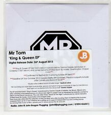 (ER269) Mr Tom, King & Queen EP - 2013 DJ CD