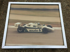 1980's KEKE ROSBERG WILLIAMS FW07 F1 FRAMED PICTURE / PRINT / 51.5 X 43.5CM