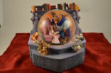 Disney's BEAUTY AND THE BEAST Snowglobe Fireplace Books RARE
