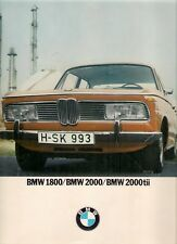 BMW 1800 2000 2000tii 1971-73 UK Market Sales Brochure