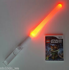 LEGO STAR WARS III THE CLONE WARS (Wii) +U=(THREE) FORCE +RED GLOWING LIGHTSABER