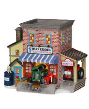 Menards Enchanted Forest Old Eddie Tractor Repair Shop Lighted Hand Painted BNIB
