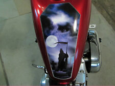 Coffin Tank Decal - Grim Reaper - for Harley Sportster & all motorcycles bobber
