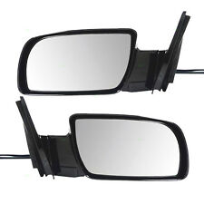 New Pair Set Power Side View Mirror Glass Housing Chevy Pickup Truck SUV