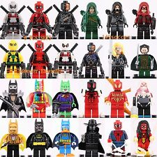 24pcs Marvel Super Heroes Green Arrow Deadpool Batman Spider-Man CUSTOM LEGO