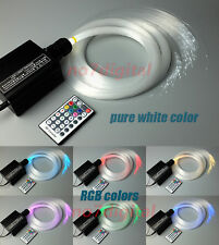 Upgrade RGBW fiber optic light kit optical fiber light 3mx300p star ceilings new
