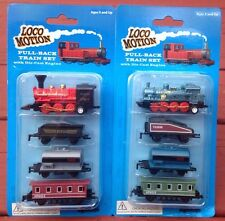 Mini Pull Back Train Set  With Die Cast Engine Assorted Styles Loco Motion
