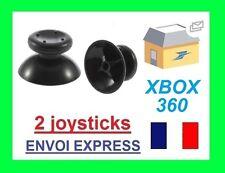 Lot de 2 chapeaux de joystick pour manette Xbox 360 noir NEUF VENDEUR PRO