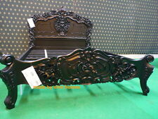 STOCK BLACK King Size 5' French Goth Gothic style mahogany Rococo Bed oriental