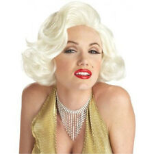 Official Classic Marilyn Monroe Sexy Blonde Movie Star Halloween Costume Wig