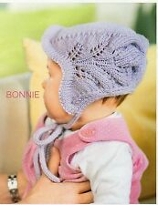 ~ Baby Knitting Pattern For Bonnet, Mittens & Bootees To Knit ~ Pics
