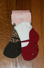 NEW GYMBOREE GLAMOUR KITTY 2 PAIR PACK SOCKS SIZE 6-12 MONTHS FITS SHOE 03-04