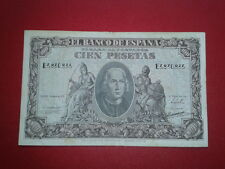 SPAIN P-118a BILLETE 100 PESETAS 1940 CRISTOBAL COLON MBC SERIE E 3830835