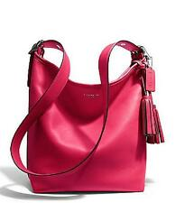 Coach Legacy Leather Duffle Shouder Bag 19889 / Pink Scarlet