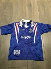 Rangers Home Shirt 1996/97 9 In A Row Medium Boys Rare And Vintage