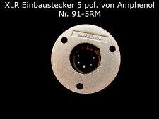 XLR Einbaustecker 3 oder 5 polig Steckverbinder Rundsteckverbinder Elektrotechni