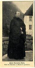 Pater Kornelius Kniel Leiter d.Dormitio S. Mariae in Jerusalem Bilddokument 1906