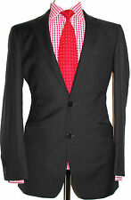 "BNWT MENS BEN SHERMAN KINGS SLIM FIT BLACK HERRINGBONE SUIT JACKET 40""R"