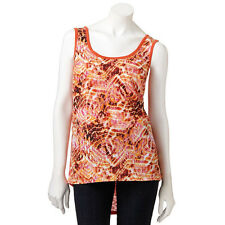 AB Studio Mixed-Media Hi Low Hem OrangeTank ( M )
