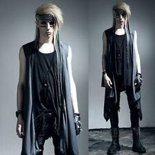 Gothic Mens Punk Rave Visual Kei Vest Rock fashion clothing vampire Jacket