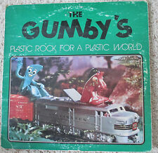 THE GUMBY'S EARLY 80'S BAND LP RECORD, AND LAPEL BUTTON