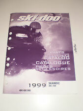 SKIDOO 1999 PARTS AND ACCESSORIES CATALOG MANUAL SKANDIC 380 / 500