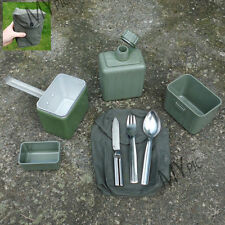 YUGOSLAVIAN ARMY SURPLUS MESS TIN & CUTLERY SET billy can kfs water bottle pouch