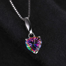 1.6ct, 18mm Genuine Luxury Mystic Topaz Pendant 925 Silver Special Occassion