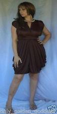 brown dress mini top tunic beaded knit 2x 3x 4x plus size