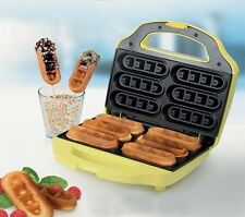 Party Waffle maker on a stick 6 Corn Dogs Machine yellow 700W