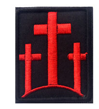 The cross  Christ Badge USA MILITARY ISAF TACTICAL MORALE HOOK Patch   sH  681