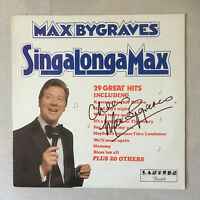 Hand Signed Vinyl Album MAX BYGRAVES - SING ALONG A MAX - with my COA