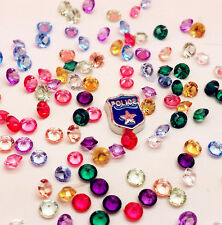 100PCS Mix Floating Charm Heart For Stainless Gems Living Memory Locket PPB48