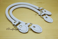 leather handles for bag 16.5 inch a pair white purse strap purse handle AB24
