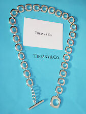 Tiffany & Co Sterling Silver Cushion Toggle Necklace