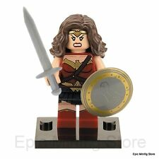 Custom Wonder Woman Minifigure DC Comics fits with Lego xh222 UK Sellar