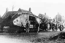 WW1 - Char Mark IV Britannique capturé par les Allemands à Cambrai