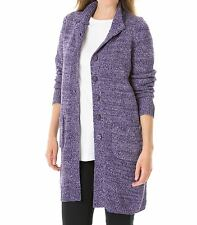 Woman Within Plus Size Deep Grape Lavender Sweater Cardigan Size 2X(26/28)