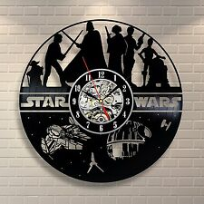 Boba Fett Figure Death Star Star Wars_Exclusive wall clock made of vinyl record
